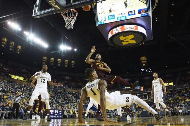 Eastern Michigan vs. Central Michigan - 1/9/18 College Basketball Pick, Odds, and Prediction
