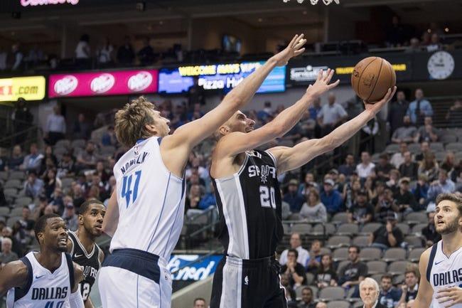 San Antonio Spurs vs. Dallas Mavericks - 11/27/17 NBA Pick, Odds, and Prediction