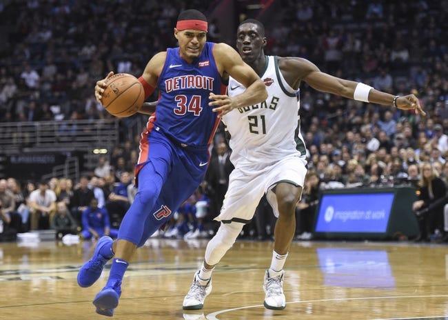 Milwaukee Bucks vs. Detroit Pistons - 12/6/17 NBA Pick, Odds, and Prediction