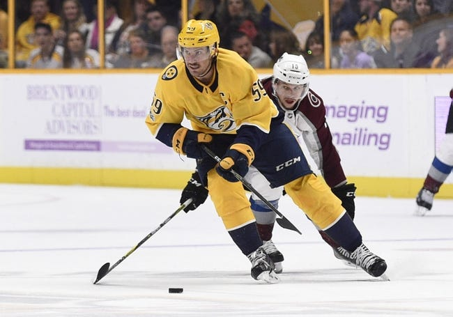 Colorado Avalanche vs. Nashville Predators - 3/4/18 NHL Pick, Odds, and Prediction