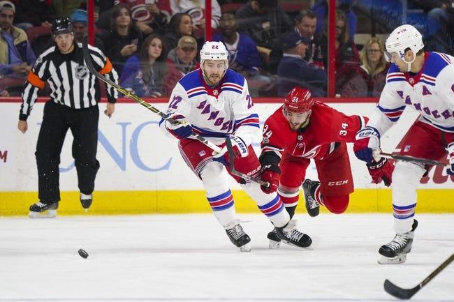 New York Rangers vs. Carolina Hurricanes - 12/1/17 NHL Pick, Odds, and Prediction