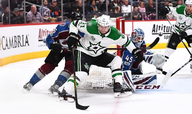 Colorado Avalanche vs. Dallas Stars - 12/3/17 NHL Pick, Odds, and Prediction