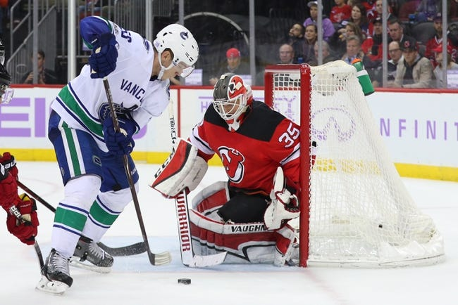 NHL | Vancouver Canucks (19-18-4) at New Jersey Devils (14-16-7)