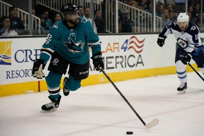 Winnipeg Jets vs. San Jose Sharks - 1/7/18 NHL Pick, Odds, and Prediction