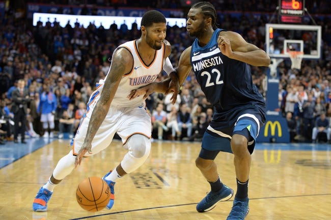 Minnesota Timberwolves vs. Oklahoma City Thunder - 1/10/18 NBA Pick, Odds, and Prediction