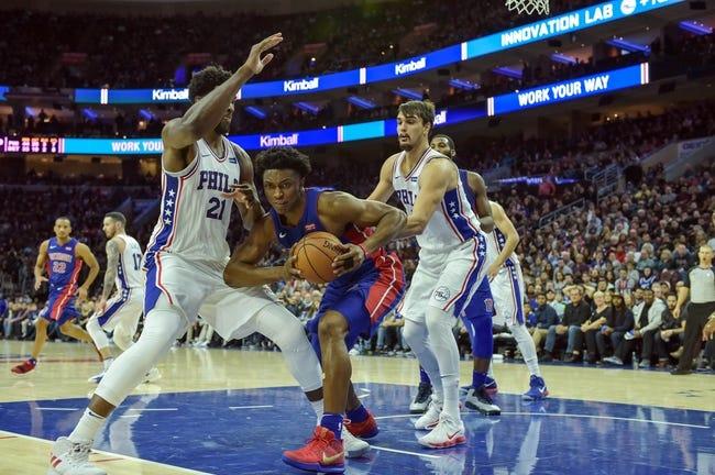 Philadelphia 76ers vs. Detroit Pistons - 1/5/18 NBA Pick, Odds, and Prediction