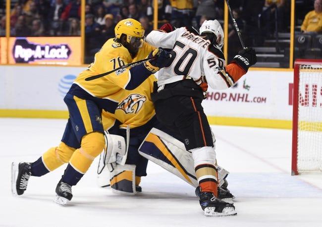 Nashville Predators vs. Anaheim Ducks - 3/8/18 NHL Pick, Odds, and Prediction