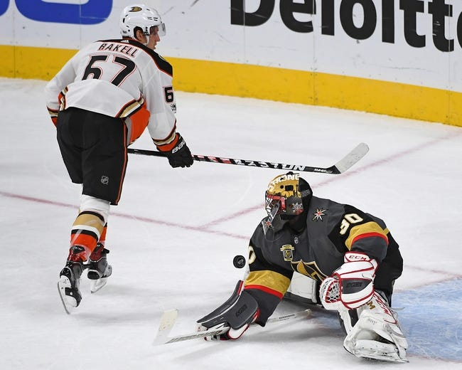 Anaheim Ducks vs. Las Vegas Golden Knights - 12/27/17 NHL Pick, Odds, and Prediction