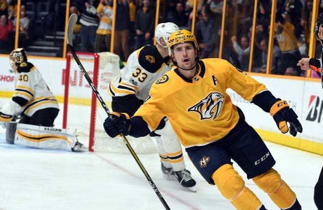 NHL   Boston Bruins (7-3-2) at Nashville Predators (10-3-0)