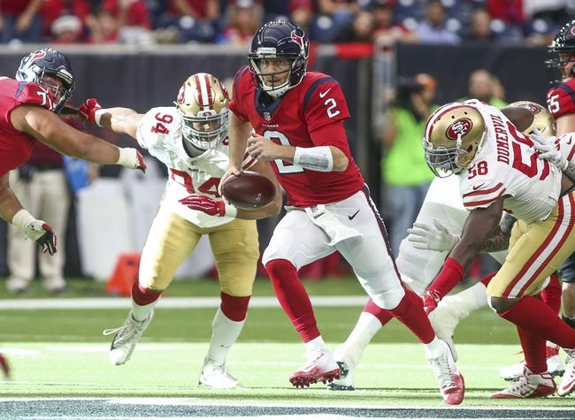 San Francisco 49ers at Houston Texans - 8/18/18 NFL Pick, Odds, and Prediction