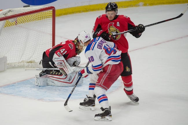 Ottawa Senators vs. New York Rangers - 2/17/18 NHL Pick, Odds, and Prediction