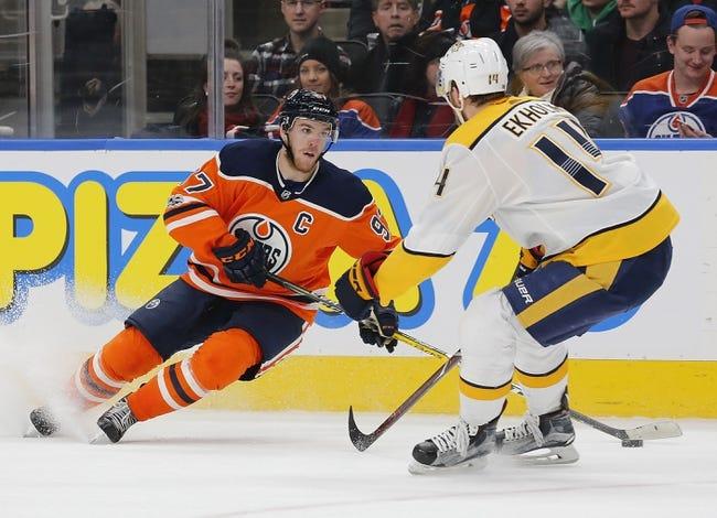 Nashville Predators vs. Edmonton Oilers - 1/9/18 NHL Pick, Odds, and Prediction