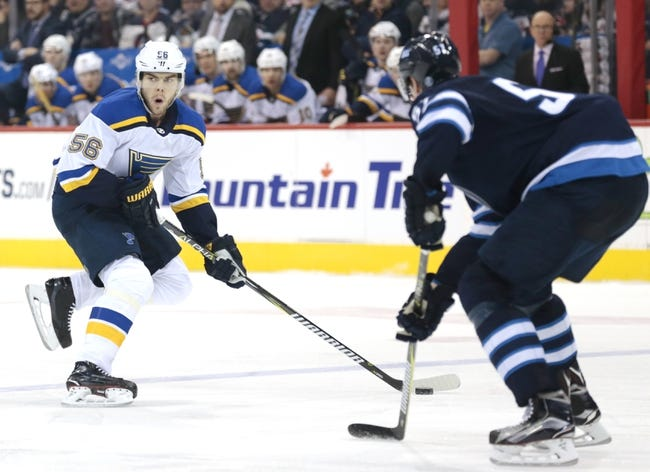 Winnipeg Jets vs. St. Louis Blues - 2/9/18 NHL Pick, Odds, and Prediction
