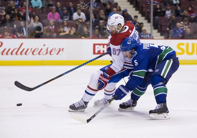 Montreal Canadiens vs. Vancouver Canucks - 1/7/18 NHL Pick, Odds, and Prediction