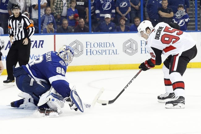 Ottawa Senators vs. Tampa Bay Lightning - 1/6/18 NHL Pick, Odds, and Prediction