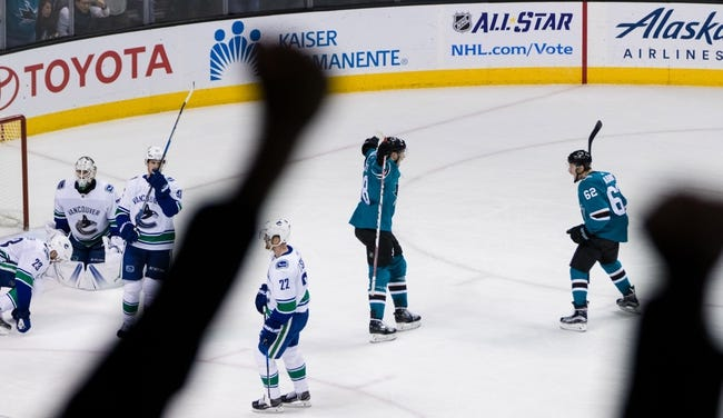 San Jose Sharks vs. Vancouver Canucks - 2/15/18 NHL Pick, Odds, and Prediction