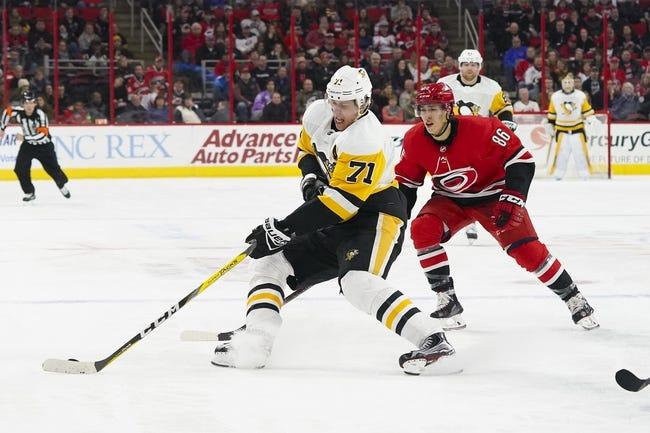 Pittsburgh Penguins vs. Carolina Hurricanes - 1/4/18 NHL Pick, Odds, and Prediction