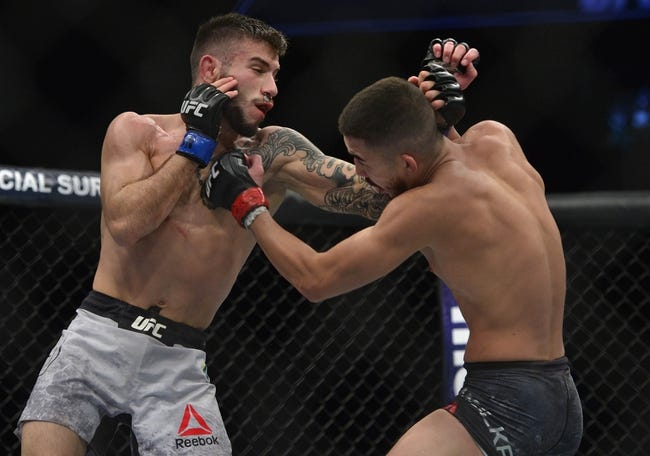 Matheus Nicolau vs Dustin Ortiz UFC on Fox 30 Pick, Preview, Odds, Predictions - 7/28/2018
