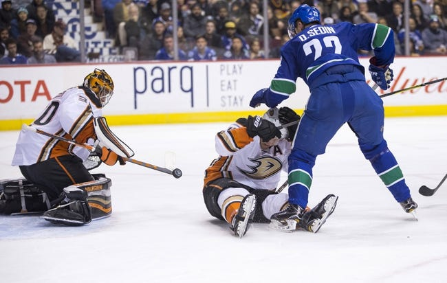 Anaheim Ducks vs. Vancouver Canucks - 3/14/18 NHL Pick, Odds, and Prediction