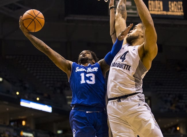 NCAA BB | Marquette Golden Eagles (13-10) at Seton Hall Pirates (17-6)