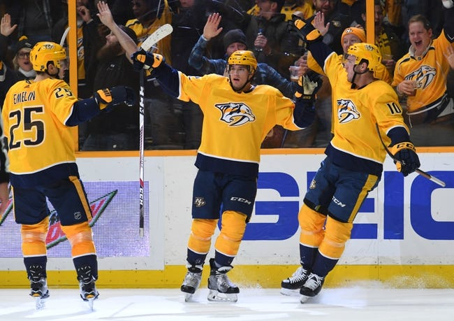 NHL | Vegas Golden Knights (5-5-1) at Nashville Predators (8-3-0)