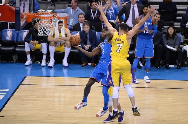 Oklahoma City Thunder vs. Los Angeles Lakers - 2/4/18 NBA Pick, Odds, and Prediction