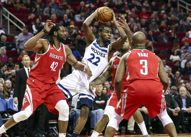 Minnesota Timberwolves vs. Houston Rockets - 2/13/18 NBA Pick, Odds, and Prediction