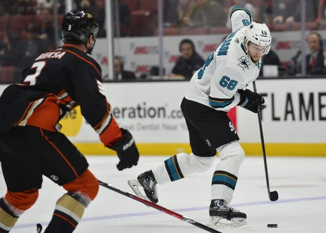 Anaheim Ducks vs. San Jose Sharks - 2/11/18 NHL Pick, Odds, and Prediction