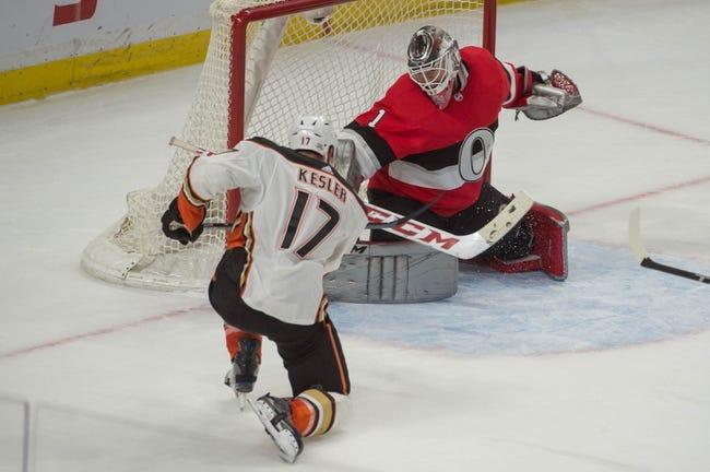 NHL   Ottawa Senators at Anaheim Ducks