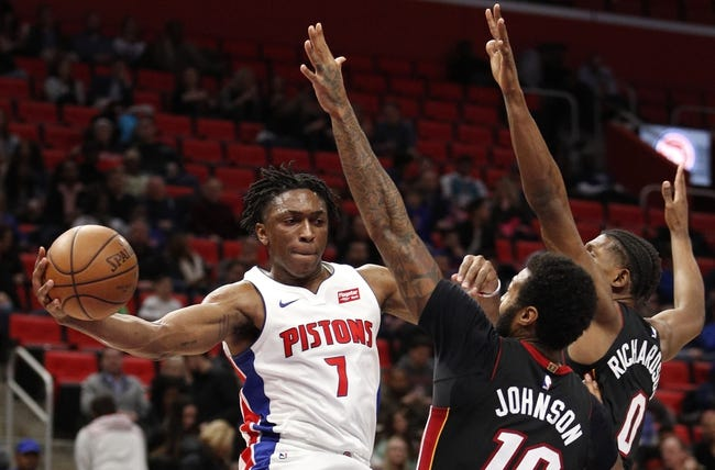 Miami Heat vs. Detroit Pistons - 3/3/18 NBA Pick, Odds, and Prediction