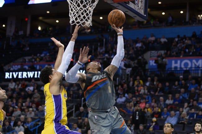 Los Angeles Lakers vs. Oklahoma City Thunder - 2/8/18 NBA Pick, Odds, and Prediction