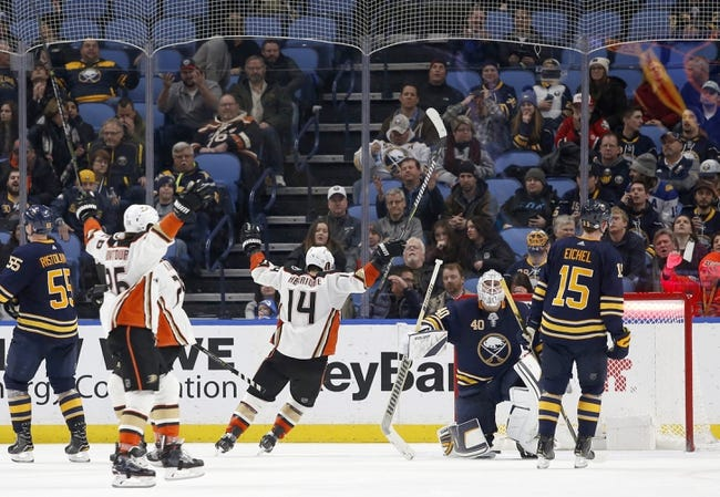 Anaheim Ducks vs. Buffalo Sabres - 10/21/18 NHL Pick, Odds, and Prediction