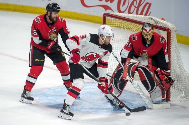 NHL   New Jersey Devils (6-5-1) at Ottawa Senators (5-6-3)