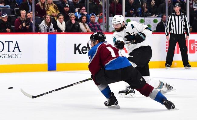 NHL | Colorado Avalanche (42-29-9) at San Jose Sharks (44-26-10)