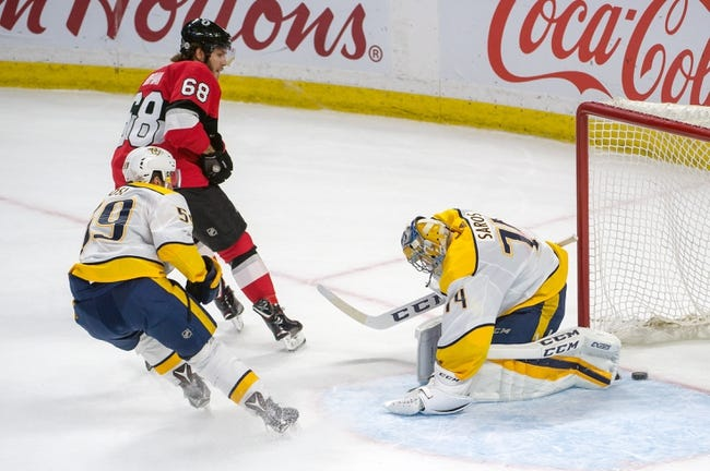 Nashville Predators vs. Ottawa Senators - 2/19/18 NHL Pick, Odds, and Prediction