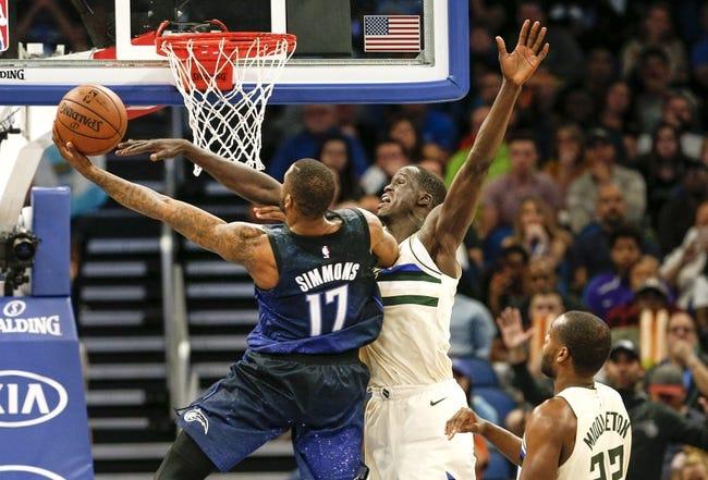 Orlando Magic vs. Milwaukee Bucks - 3/14/18 NBA Pick, Odds, and Prediction