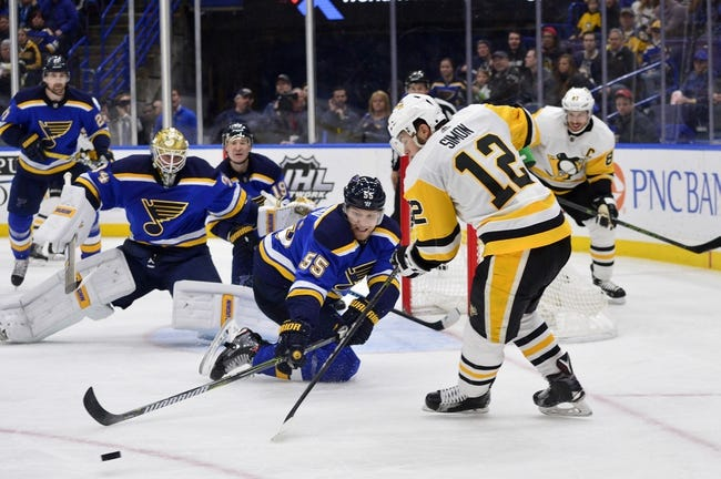 NHL | Pittsburgh Penguins (19-12-6) at St. Louis Blues (15-16-4)