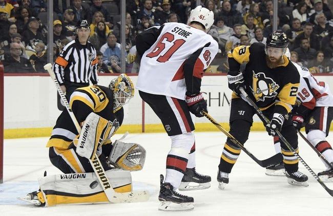 Pittsburgh Penguins vs. Ottawa Senators - 4/6/18 NHL Pick, Odds, and Prediction