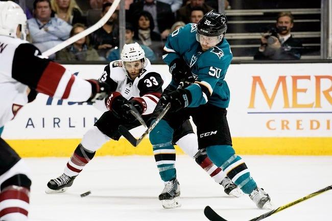 NHL | Arizona Coyotes (15-18-2) at San Jose Sharks (19-12-6)