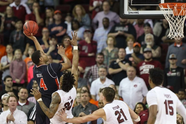 Auburn vs. South Carolina - 3/3/18 College Basketball Pick, Odds, and Prediction