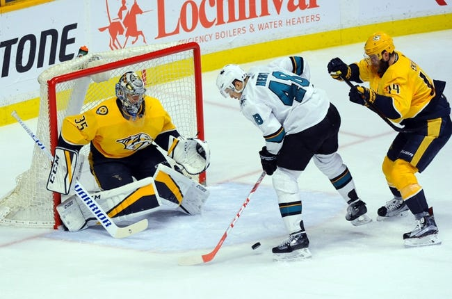 NHL | San Jose Sharks (44-23-10) at Nashville Predators (49-16-11)