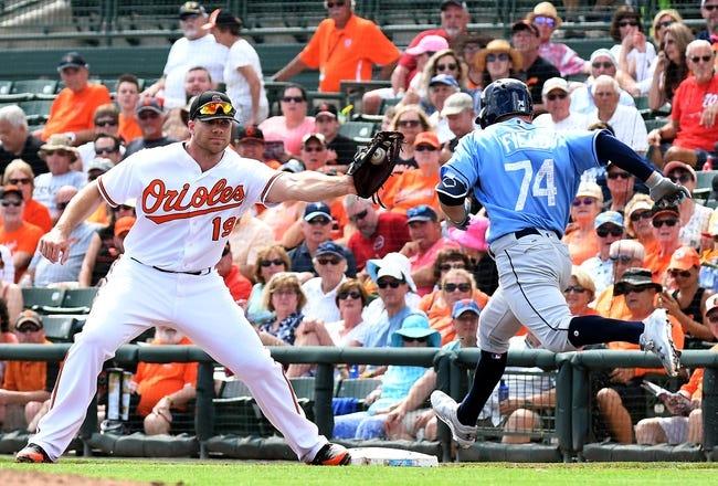 Baltimore Orioles vs. Tampa Bay Rays - 4/25/18 MLB Pick, Odds, and Prediction