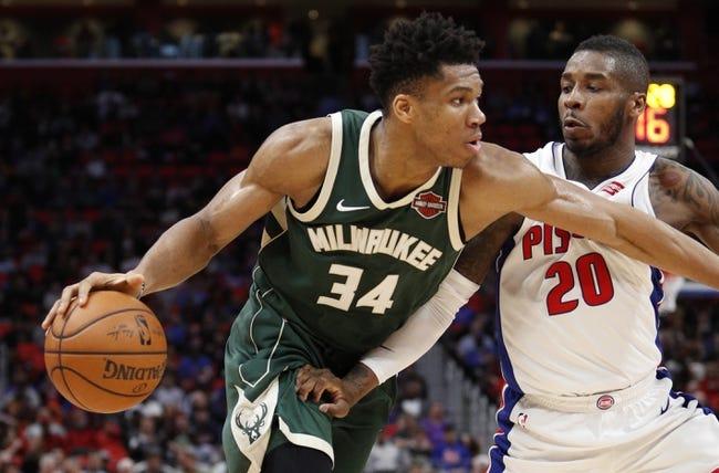NBA | Detroit Pistons (13-8) at Milwaukee Bucks (15-7)