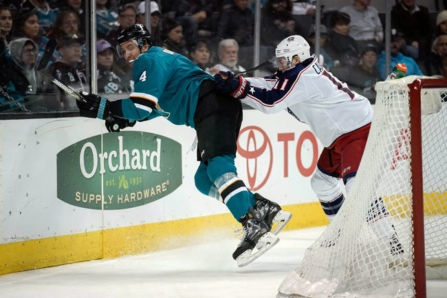San Jose Sharks vs. Columbus Blue Jackets - 11/1/18 NHL Pick, Odds, and Prediction
