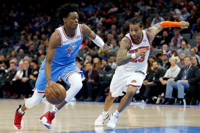 NBA   New York Knicks at Sacramento Kings