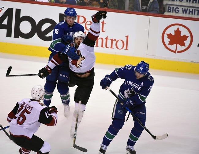 Arizona Coyotes vs. Vancouver Canucks - 3/11/18 NHL Pick, Odds, and Prediction