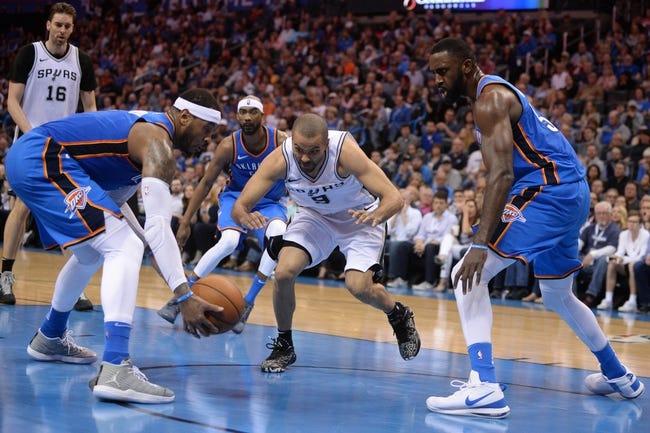 NBA | Oklahoma City Thunder (44-31) at San Antonio Spurs (43-32)
