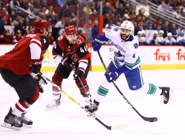 Vancouver Canucks vs. Arizona Coyotes - 4/5/18 NHL Pick, Odds, and Prediction