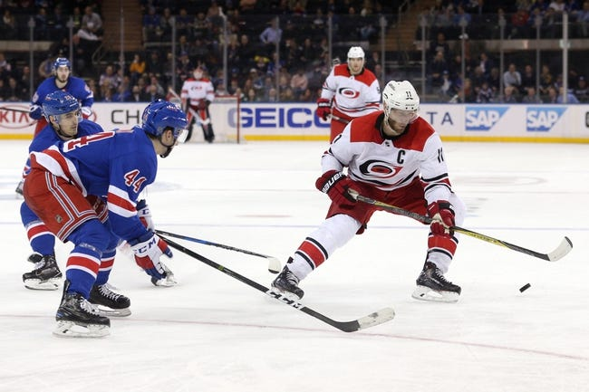 Carolina Hurricanes vs. New York Rangers - 3/31/18 NHL Pick, Odds, and Prediction