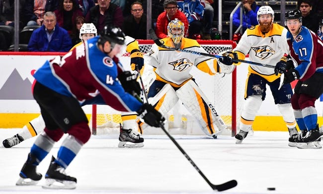 Nashville Predators vs. Colorado Avalanche - 4/12/18 NHL Pick, Odds, and Prediction